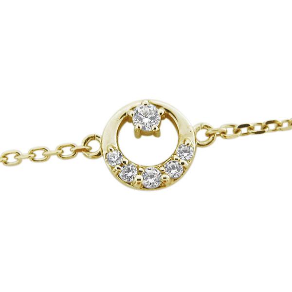 【10%OFF】1月1日00:00~ ブレスレット 星 ダイヤモンド 月モチーフ ブレスレット 10金