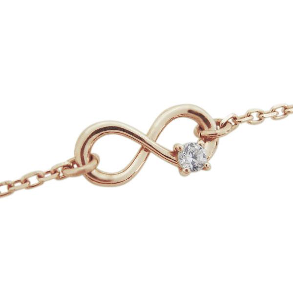 ダイヤモンド ブレスレット インフィニティ 無限 K10 ブレス