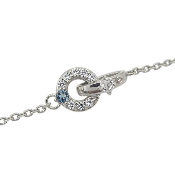 プラチナ Infinity ダブルリング ダイヤモンド ブレスレット