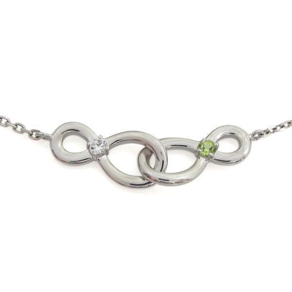 プラチナ Infinity ブレスレット ダイヤモンドブレス インフィニティ