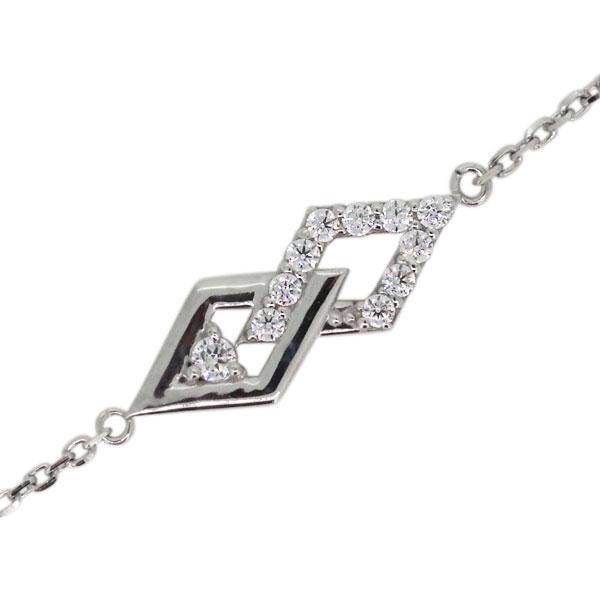 ブレスレット 4月誕生石 ダイヤモンド プラチナ レディースジュエリー