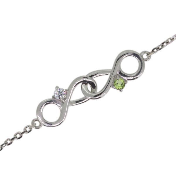 ダイヤモンド ブレスレット プラチナ インフィニティ Infinity 無限 4月誕生石