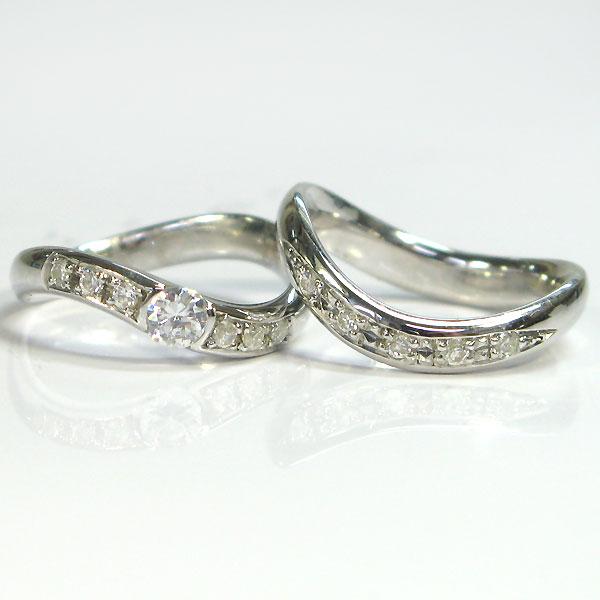 結婚指輪 プラチナ ダイヤモンド ペアリング マリッジリング jwl0915 プレゼント 販促品 出産祝 結婚式引出物 お礼