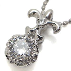 K18・ダイヤモンドネックレス・一粒・ダイアモンド・ペンダント