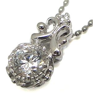 ネックレス・ダイヤモンド・一粒・K18・ダイアモンド・ペンダント