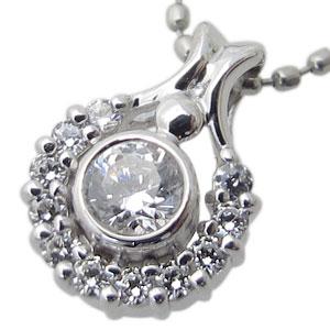 【10%OFFクーポン&P5倍】23日~ダイヤモンド・ネックレス・馬蹄・18金・ペンダント