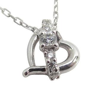【10%OFFクーポン】5日23:59迄 ダイヤモンド・ネックレス・一粒・10金・ハート・ネックレス