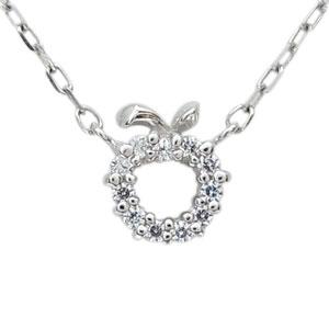 【10%OFF】1月1日00:00~ ダイヤモンド・プラチナ・リング・リンゴ・林檎・指輪・プチペンダント
