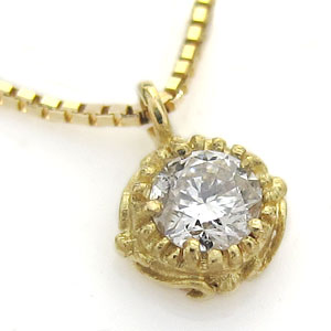 9/11 1:59迄ネックレス レディース シンプル一粒 ダイヤモンド ダイヤモンド ペンダント K18