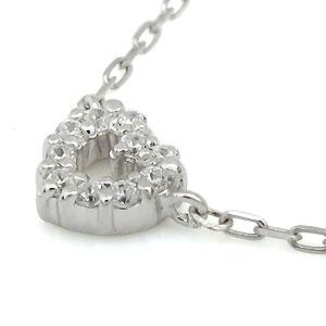 1日限定 10%OFFクーポン P3倍 プラチナ・ハート・プチネックレス・ダイヤモンド・プチペンダントBexoWCrd