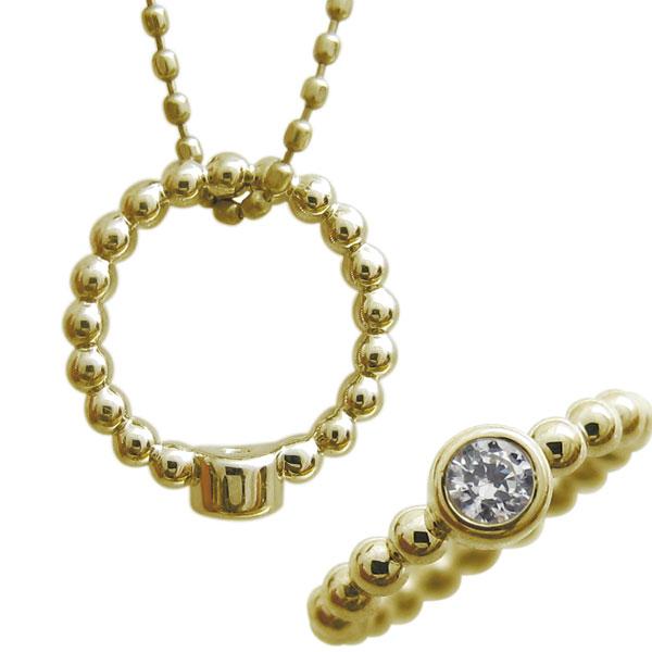 【10%OFFクーポン】5日23:59迄 ベビーリング ネックレス ベビー 指輪 ダイヤモンド 10金