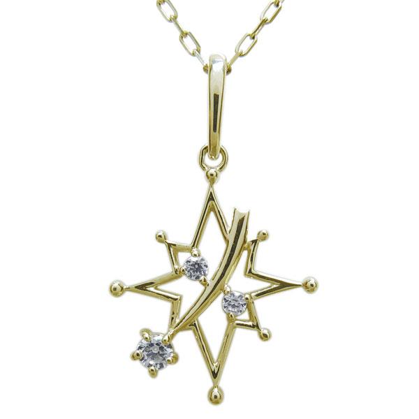 2日20時~ ダイヤモンド・星・ネックレス・流れ星・ペンダント・K18
