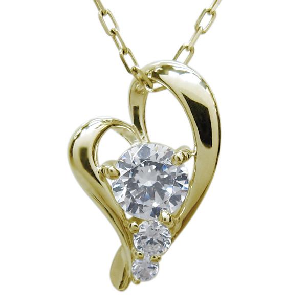 9日20時~ ダイヤモンド ネックレス オープンハート シンプル ペンダント