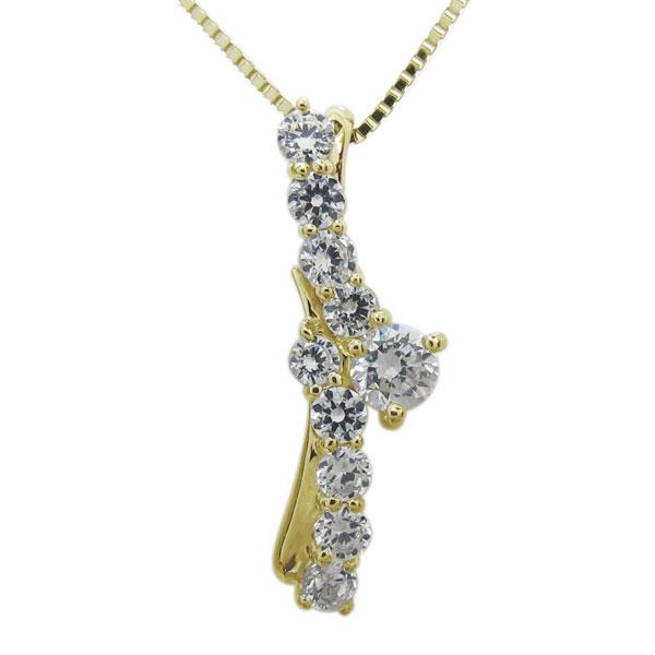 ダイヤモンドペンダント 結婚10周年 プレゼント メモリアル 10金 ネックレス