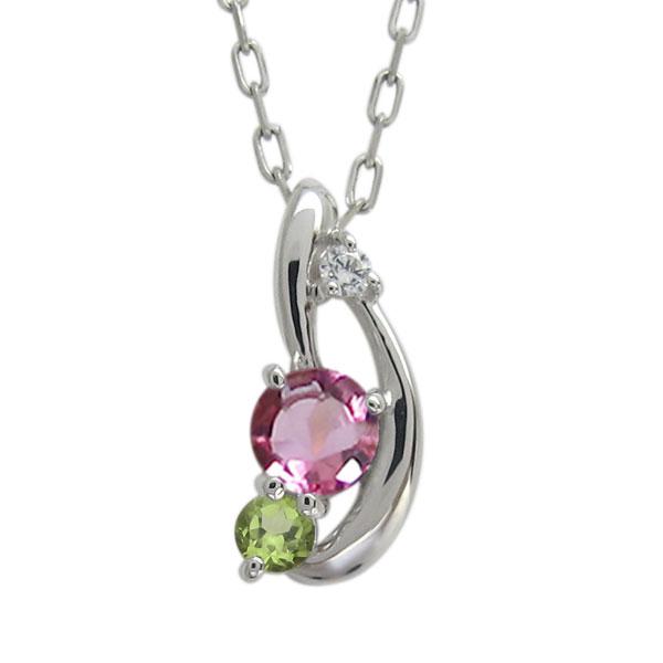 ピンクトルマリンペンダント 上品 ネックレス レディース 母の日 プレゼント シンプルプラチナ