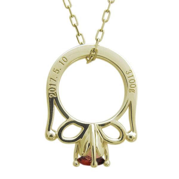ベビーリング 誕生石 ネックレス メモリアル ベビー 指輪 18金