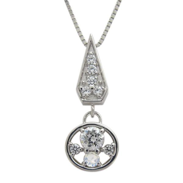 プラチナ サークル レディースネックレス 誕生石 ダイヤモンド 母の日 プレゼント