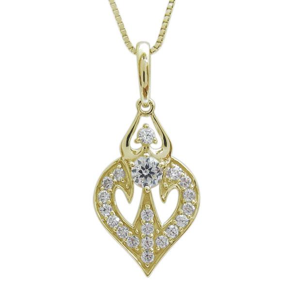 ダイヤモンド 0.3ct ペンダント 4月誕生石 パヴェネックレス K18