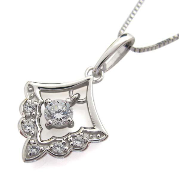 ダイヤモンド ネックレス レース ペンダント 10金 レディース 母の日 プレゼントVGMpqUzS