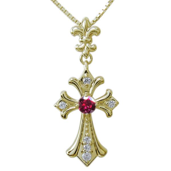 送料無料 誕生石 クロス 十字架 メンズ ネックレス ペンダント 18金 クロスペンダント・選べる天然石・メンズ・ネックレス・十字架
