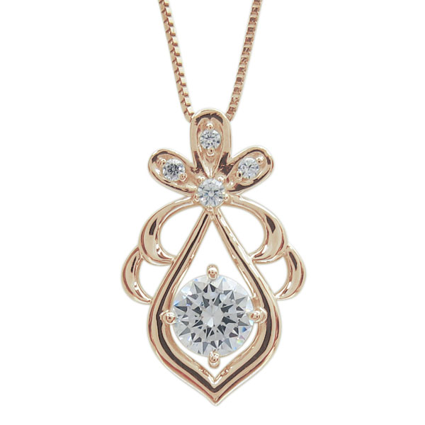 【10%OFFクーポン】5日23:59迄 4月誕生石 18金 ダイヤモンド ネックレス レディース 雫 母の日 プレゼント