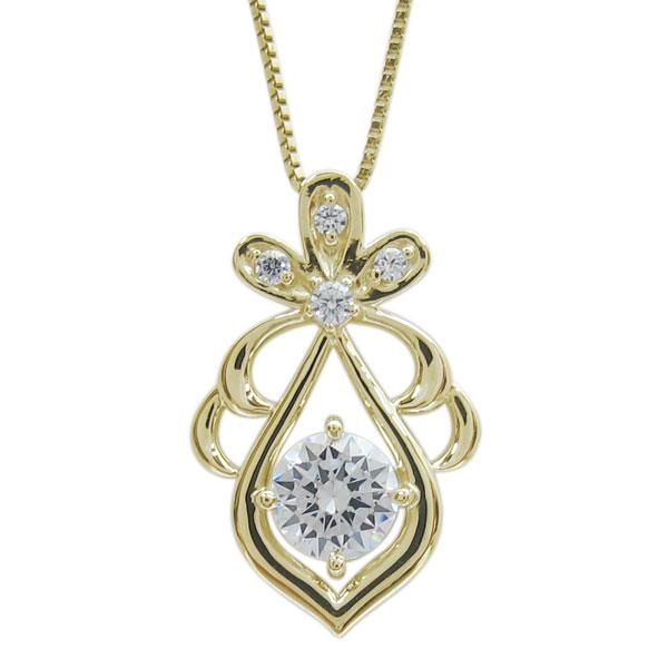 10金 ダイヤモンド しずく レディースネックレス ペンダント 母の日 プレゼント