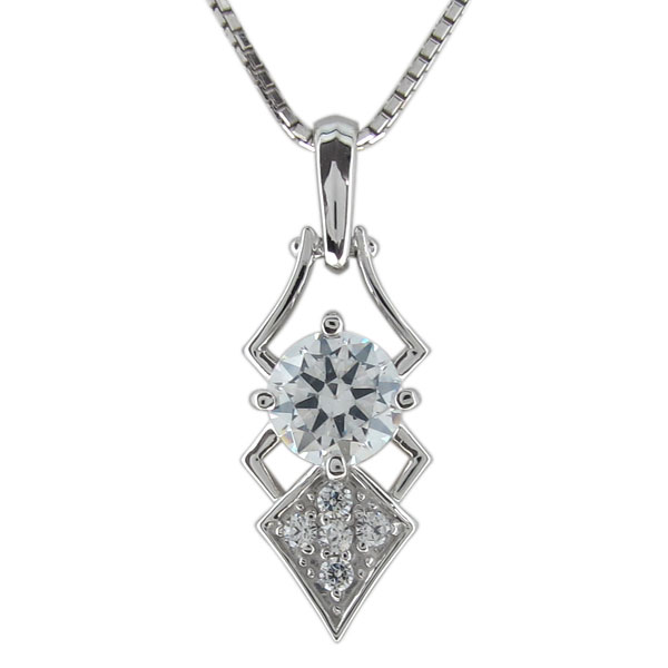 ネックレス メンズ 4月誕生石 ダイヤモンド プラチナ ペンダント