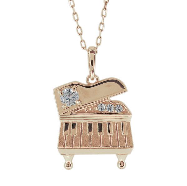 9/11 1:59迄ピアノ ネックレス ダイヤモンド ペンダント レディース 10金 鍵盤