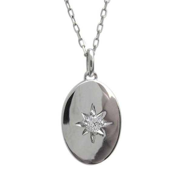 9日20時~ ダイヤモンド・ネックレス・楕円・オーバル・レディース・プラチナ・シンプル・ペンダント 母の日 プレゼント