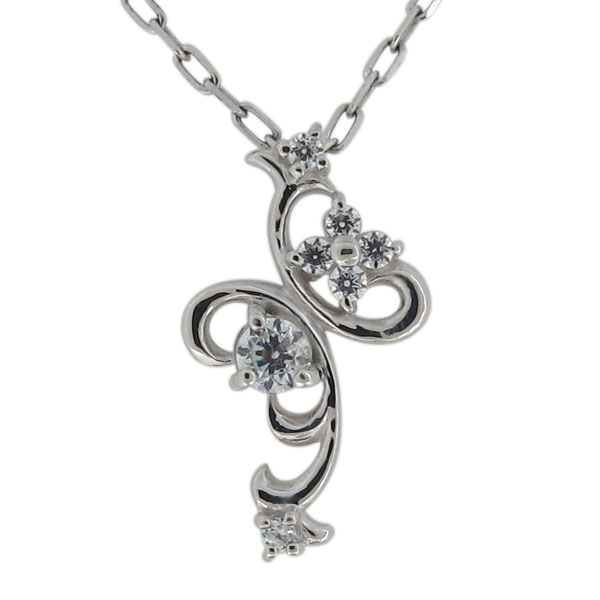 ダイヤモンド・ネックレス・アラベスク・クロス・プラチナ・レディースペンダント・華奢 母の日 プレゼント8nNvmwO0