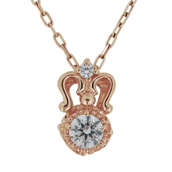 ネックレス レディース 18金 天然石 ダイヤモンド アンティークペンダント 20代 30代 40代 母の日 プレゼント
