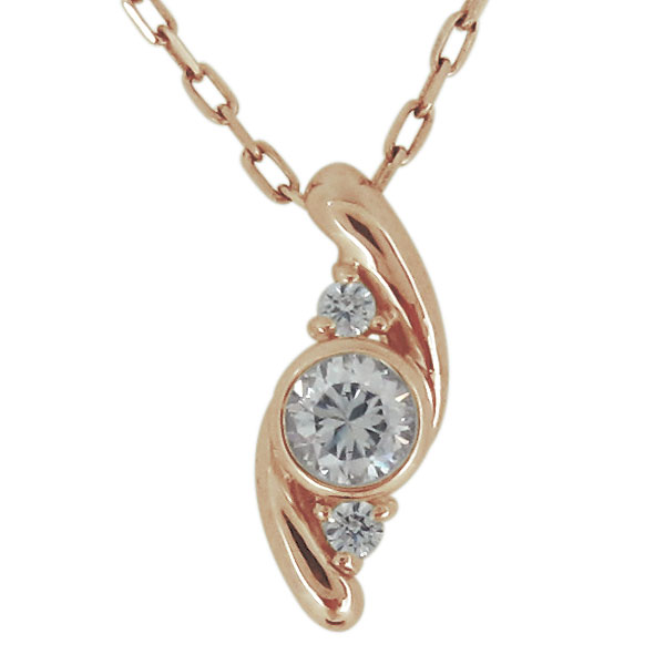 【10%OFF】4日20時~ ネックレス レディース 18金 30代 40代 50代 ダイヤモンド シンプル 上品 ペンダント 母の日 プレゼント