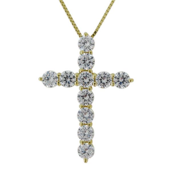 ネックレス クロス 天然石 ダイヤモンド 10金 十字架 レディース ペンダント 母の日 プレゼント