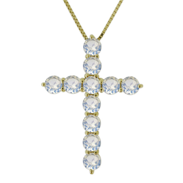 【10%OFF】4日20時~ ネックレス クロス 天然石 ロイヤルブルームーンストーン 10金 十字架 レディース ペンダント 母の日 プレゼント