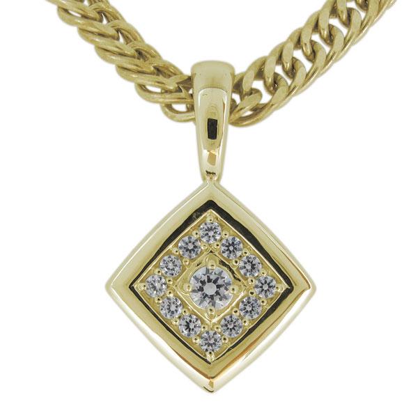 送料無料/新品 送料無料 K18 お買得 メンズ ネックレス ゴールド ダイヤモンド シンプル ペンダント 18金 4日20時~ 10%OFF 喜平