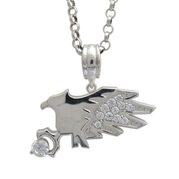 3/20限定AM10時~ メンズ シルバー ネックレス イーグル 鷲 ホーク 鷹 天然石 ダイヤモンド