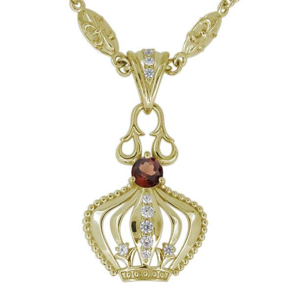 最上の品質な メンズ ネックレス 18金 クラウン 王冠 メンズ 天然石 ガーネット 18金 クラウン メンズペンダント, キソムラ:547bfa4a --- marhabatoursandtravels.in