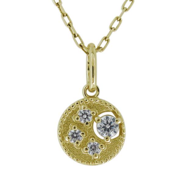 【10%OFFクーポン】5日23:59迄 ネックレス 月 ムーン レディース 4月誕生石 ダイヤモンド 10金 ペンダント 母の日 プレゼント