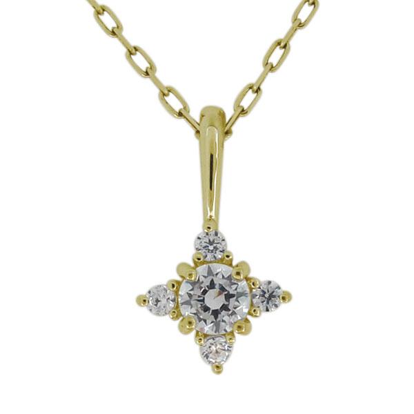 ダイヤモンド ネックレス シンプル 10金 レディース ペンダント 4月誕生石 上品 母の日 プレゼント