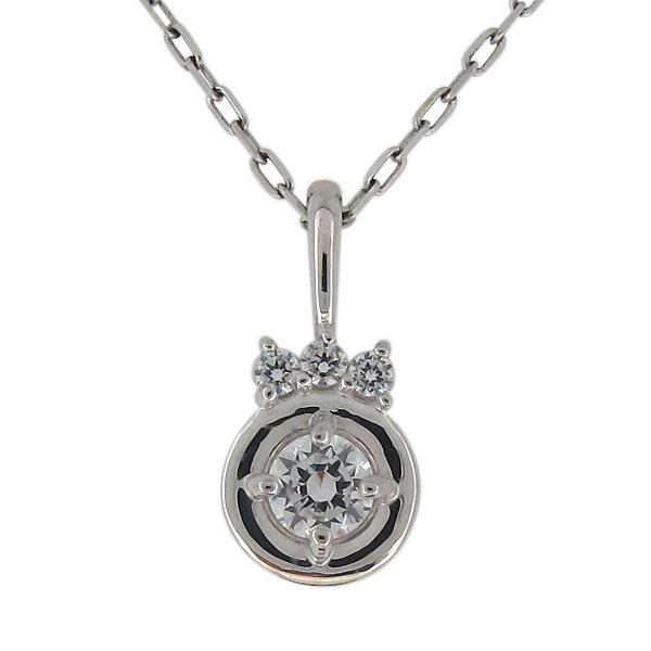 ダイヤモンド ネックレス プラチナ シンプル ペンダント 天然石 レディース 上品 母の日 プレゼント