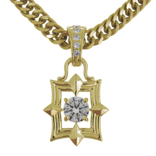 喜平ネックレス メンズ 30代 金 K18 ダイヤモンド ネックレス