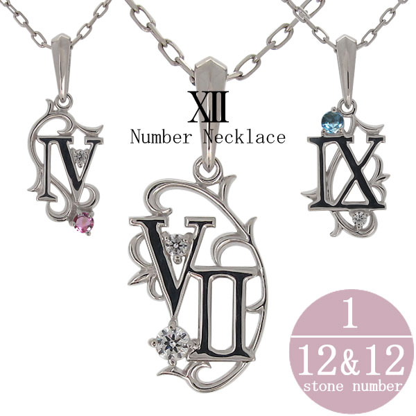 3/20限定AM10時~ 誕生日 数字 ナンバー ネックレス プラチナ メンズ ペンダント