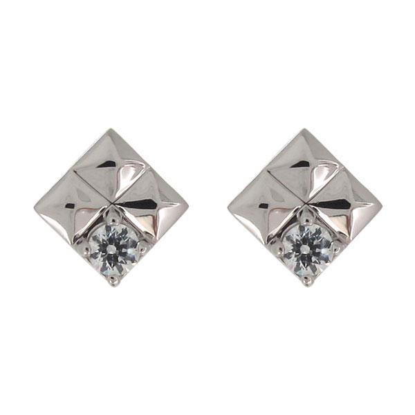 3/20限定AM10時~ スタッズ ピアス 天然石 ダイヤモンド プラチナ メンズ スタッドピアス