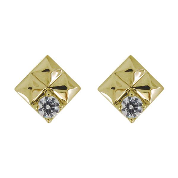 18金 K18 ピアス スタッズ ダイヤモンド 4月誕生石 レディース カジュアル 母の日 プレゼント