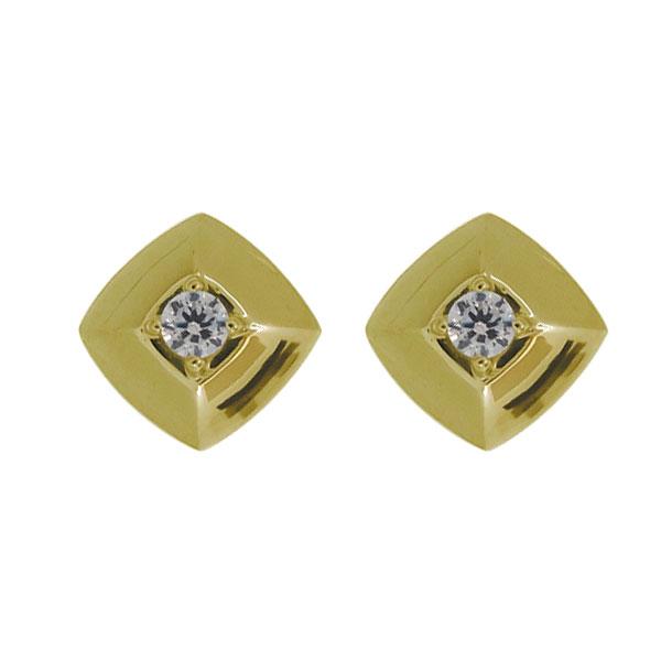K18 ピアス レディース シンプル ダイヤモンド 4月誕生石 カジュアル 母の日 プレゼント