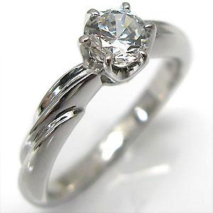 【10%OFFクーポン】5日23:59迄 ダイヤモンド・エンゲージリング(婚約指輪)・18金・一粒・リング