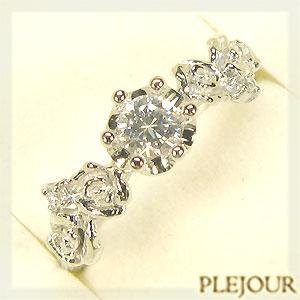 ダイヤモンドリング K18ゴールド アンティーク 婚約指輪