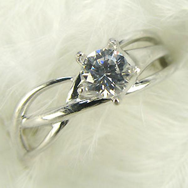 9/11 1:59迄ダイヤモンド・リングK18星ライン指輪