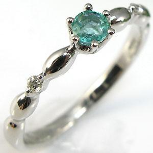 【10%OFF】ピンキーリング・エメラルド・リング・ダイヤモンド付・プラチナ