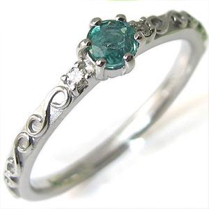 ピンキーリング・プラチナ・エメラルドリング・指輪